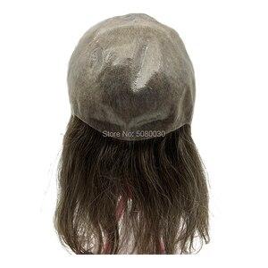 Image 4 - 女性の髪トッパーフルキャップかつら人格カスタマイズ皮膚ベース髪のかつらの男性