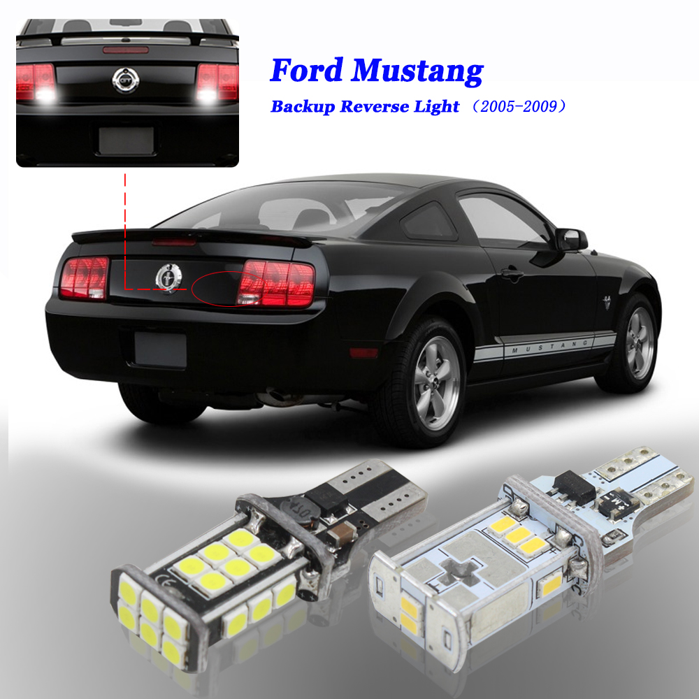 6000K White Canbus No Error 912 W16W T15 Car LED Bulbs Fits 2005 <font><b>2006</b></font> 2007 2008 2009 Ford <font><b>Mustang</b></font> LED Backup Reverse Light image