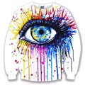 men/women 3d animal hoodies sweatshirts colorful eyes/Black and white lion  unisex clothes casual lovers Sweats Jersey