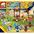 12 Pçs/lote NEXUS Futuros Cavaleiros CAVALEIROS Minifigures Blocos de Construção de Brinquedos Tijolos Brinquedos para As Crianças Compatíveis com LEGO