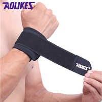 AOLIKES 2 Pcs/Lot poignet bande hommes pour Gym Powerlifting poignet soutien enveloppes sangles protecteur bracelets sport Fitness bracelet