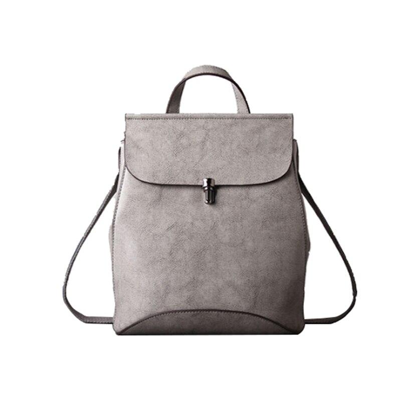 Homeda Genuine Leather Street Fashion Women backpacks Hasp Solid Classic Girl School Bag 2017 classic fashion new women backpacks