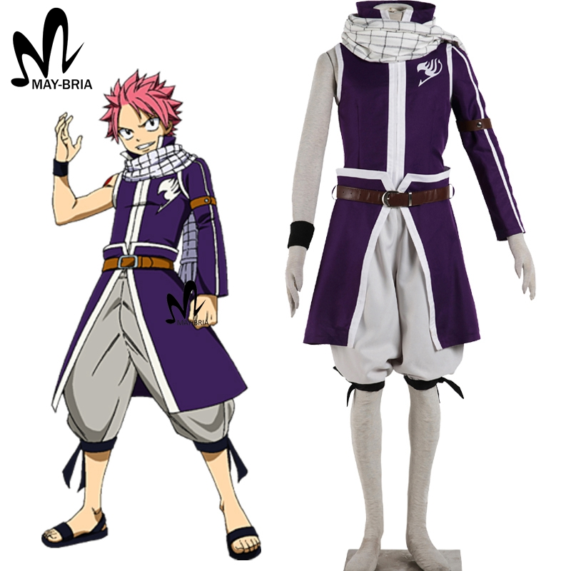 Fairy Tail cosplay costume Natsu Dragneel cosplay costume Fairy Tail Halloween costumes for men adult hot fancy anime costume