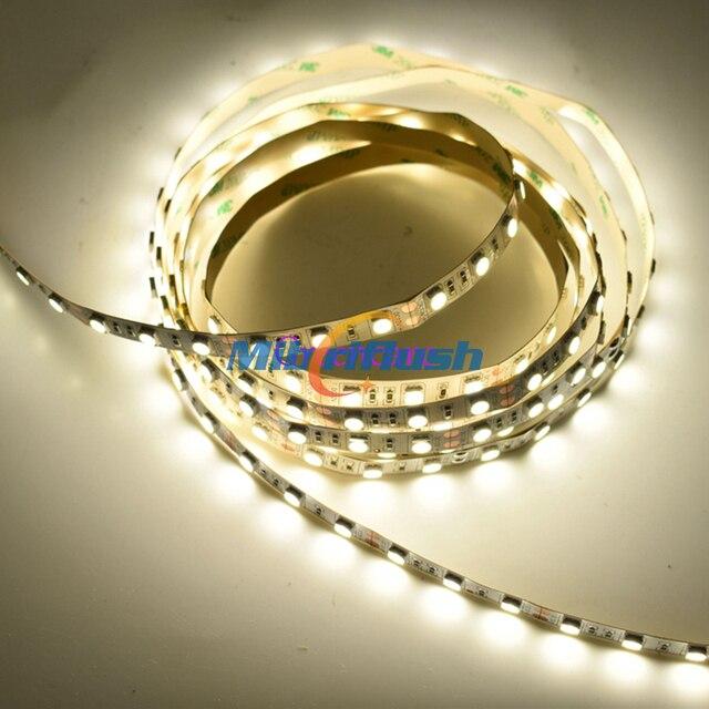 CRI>80 14.4W/M 21-23LM/led 10MM PCB 12V 60leds/M Color Changing IP20 Non-Waterproof SMD5050 LED Flexible Strip 24Vwarm white/RGB