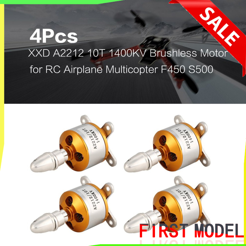 4Pcs XXD A2212 Outrunner <font><b>Brushless</b></font> <font><b>Motor</b></font> 930KV <font><b>1000KV</b></font> 1400KV 2200KV 2700KV For FPV DIY RC Aircraft Remote Control Model image