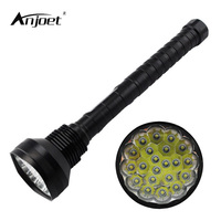ANJOET Tactical Lights powerful led flashlight 30000LM XML 21*T6 Portable Lanterns Hunting lamp 18650 Torches Lighting
