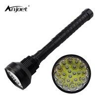 Anjoet chiến thuật đèn mạnh mẽ led đèn pin 30000lm xml-21 * t6 đèn xách tay đèn săn 18650 ngọn đuốc chiếu sáng