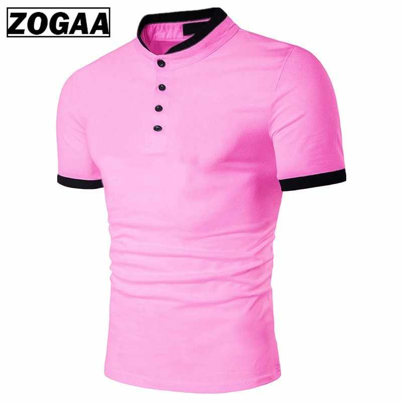ZOGAA New 2019 Polo Men's Shirt Cotton Short Sleeve Shirt Casual Shirts Summer Breathable Solid Male Polo Shirt Plus Size S-3XL
