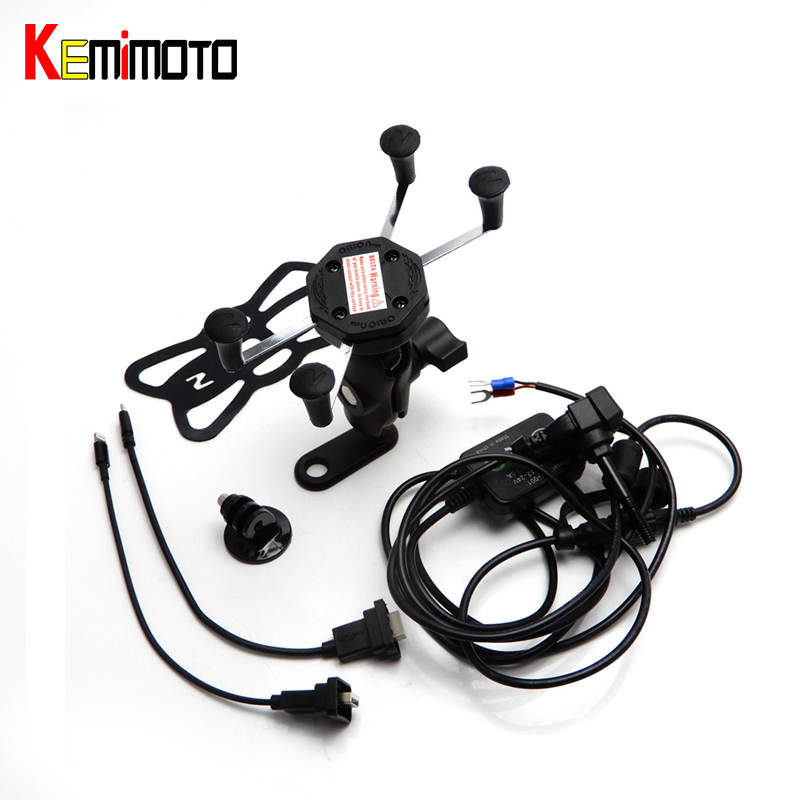 KEMiMOTO R1200GS R NINE T Motorcycle Navigation Frame Riding Mobile Phone Mount Bracket GPS Holder with USB Charger adaptive navigation and motion planning for autonomous mobile robots