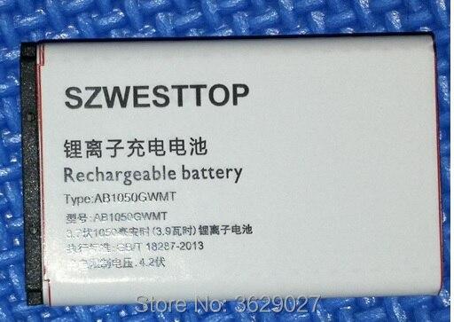 SZWESTTOP d'origine AB1050CWMC batterie Pour philips X116 X125 X126 X128 téléphone portable AB1050FWMX Batterie pour XENIUM téléphone intelligent