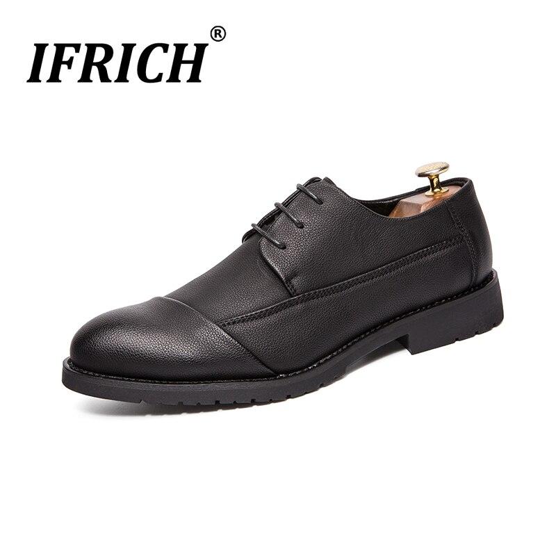 2019 nouvelle tendance parti formel hommes chaussures marque adulte affaires chaussures plate-forme Pu cuir chaussures pour homme noir chaussures hommes décontractées