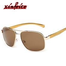 36f7e3f0c3c Brand Polarized Men s Vintage Sunglases Aluminum Frame Male Sun Glasses  Goggle Eyewear Gozluk Yellow Lens Driving Oculos De Sol