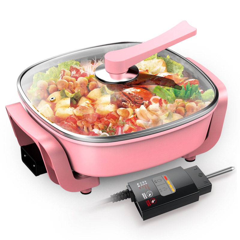 Korean type multi-function electric hot pot domestic electric hot pot electric frying pot non-stick pot electric cookeKorean type multi-function electric hot pot domestic electric hot pot electric frying pot non-stick pot electric cooke