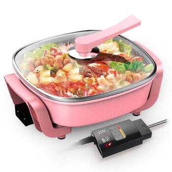 Korean type multi-function electric hot pot domestic electric hot pot electric frying pot non-stick pot electric cooke
