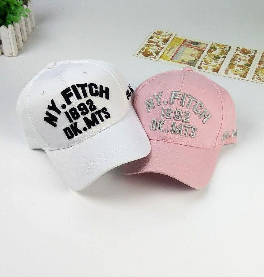 Prix pour Mode D'été femmes rose ny casquette de baseball avec Lettre blanc Chapeau Cap Snapback Sport femelle brodé casquette à visière
