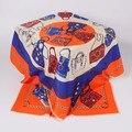 Nueva bufanda de moda diseñador gran chal cuadrado