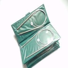 HAXIXINJING 11 размер/сумка 80 см наборы из нержавеющей круговой иглы стальной вязальный инструмент для рукоделия набор колец иглы DIY вязаная игла