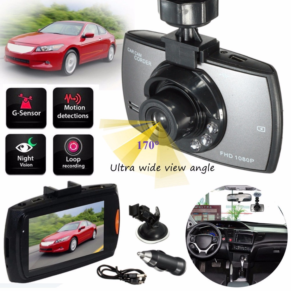 Car DVR Camera 170 Wide-angle Car detector Hidden Driving Recorder 1080P HD Cam Car Night Vision 1