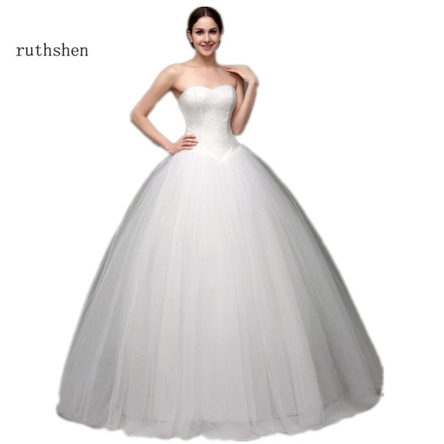 ruthshen 2017 Ball Wedding Gowns Cheap Sweetheart Lace Tulle Puffy ...