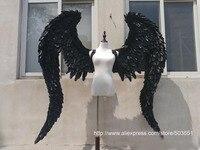 Black angel wings demon wings black large feathers angel wings model catwalk shows props cosplay studio photography
