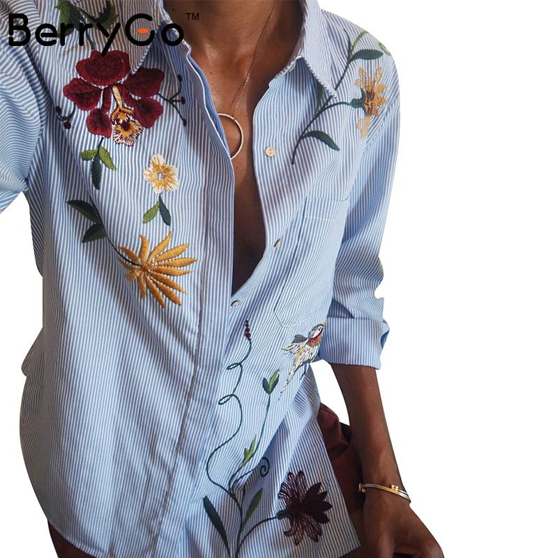 BerryGo Chic floral embroidered women bls
