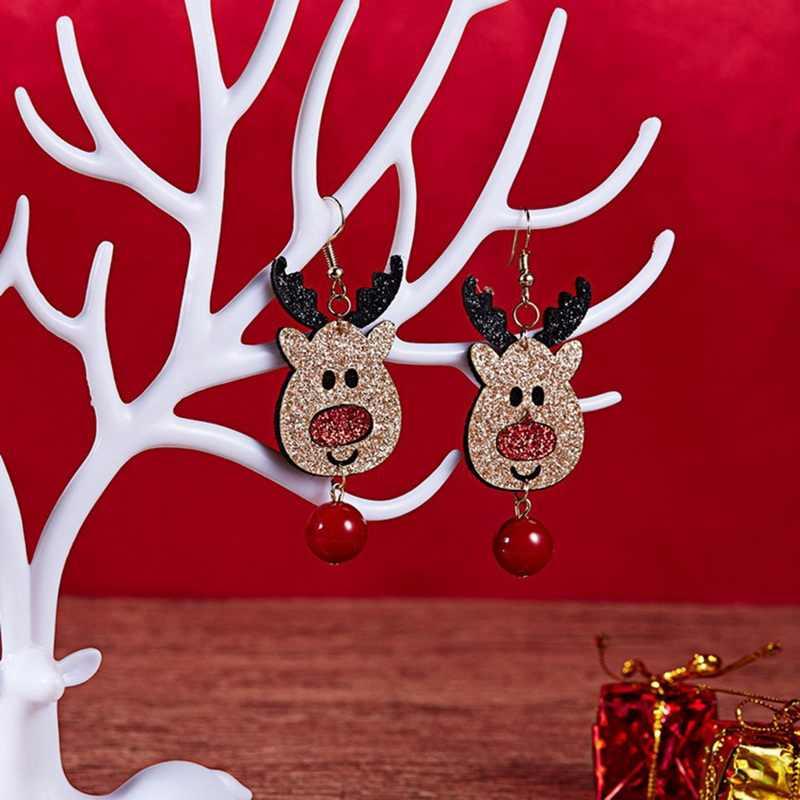 Phụ nữ Santa Claus Snowman Đáng Yêu Cây Chuông Giáng Sinh Đồ Trang Sức Earring Đối Với Phụ Nữ Quà Tặng Mới Thời Trang Bán Buôn