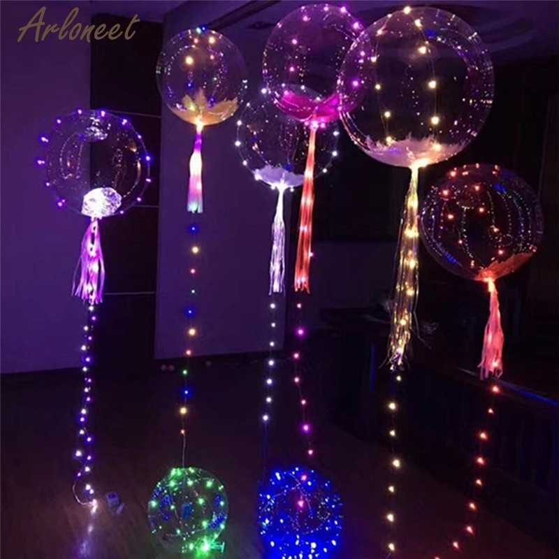 LED Toys Round Balloon shape Light Up Decoration Party Wedding  Reusable infantiles birthday Party Decor Valentine gift Luminou