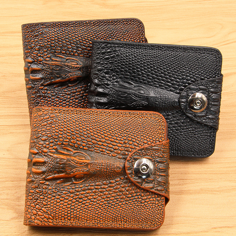 Famous Brand New Pu Leather Men's Wallets Crocodile Pattern Business Men Wallet Coin Purse Money Bag Male Credit Card Holder