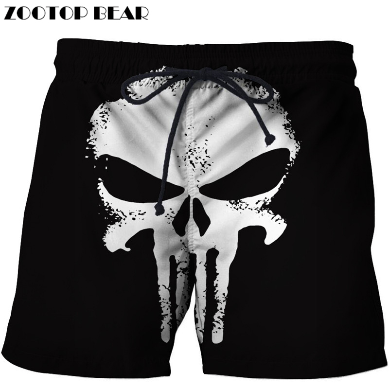 Punishing 3D Printer Men Shorts Plus Size Breathable Beach Brand Clothing Loose Homme Shorts Quick Dry Polyester Trousers Drop