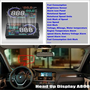 Car HUD Head Up Display For BMW X3 E83 X5 E53 E70 X6 E71 - Safe Driving Screen Projector Refkecting Windshield(China)