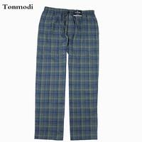 Men's pajamas Pants Trousers Cotton Flat woven flannel Sleep Bottoms European size Large 3XL