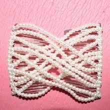 pure Pearl metal comb girls women lady wedding pary best gift magic 1 pcs /lot