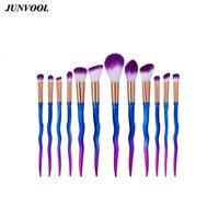 New Makeup Brushes Set 12pcs Sword Rainbow Professional Blending Powder Foundation Eyeshadow Eyebrow Eye Contour Make