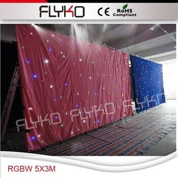 Flyko Bühne RGBW led stern vorhang braun farbe sterne tuch