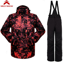 Wild Snow New Best Winter Breathable Waterproof Ski Jacket Men Winter Ski Suit Snowboard Jacket Thicken Outdoor Suit Jacket
