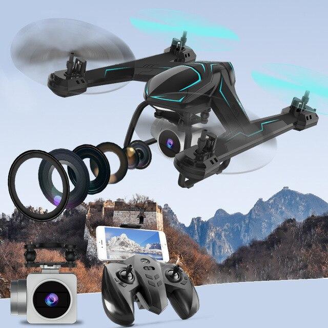 Mini Drone avec caméra HD pliable RC quadrirotor hélicoptère avec grand angle FPV caméra maintien d'altitude VR lunettes jouets pour enfants # E