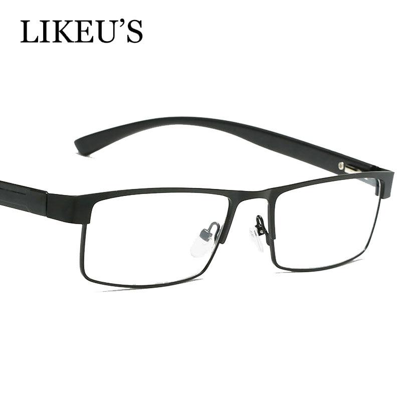 LIKEU'S Frames Glasses Spectacle Oculos-De-Grau Myopia Optical Vintage Fashion Men