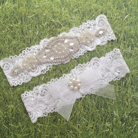 Wedding Baby Girls Lace Bow Headband Pearl Rhinestone Headband Flower Lace Headband For Newborn Infants Hair