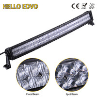 5D CREE 33 Inch 300W Curved LED Light Bar For Work Indicators Driving Offroad Boat Car
