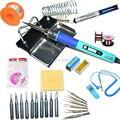 UE LCD Digital estação De Solda Ajustável ferro de solda Elétrica ou 936 conjunto kit kit de reparo de Soldagem CONJUNTO Pinças/Solda ponta