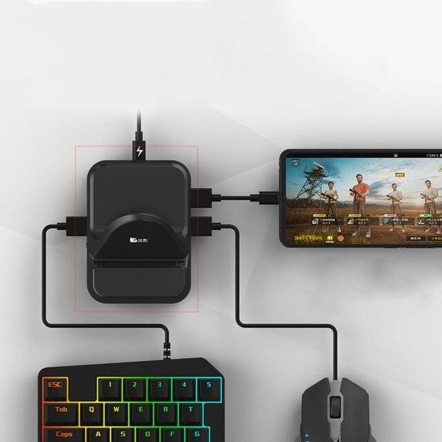 NEX klawiatura mysz konwerter stacja Adapter Bluetooth Dock Gamepad dla androida mobilna gra PUBG uchwyt nie trzeba pobrać oprogramowanie