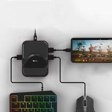 Nex teclado mouse conversor estação adaptador bluetooth doca gamepad para android móvel pubg suporte do jogo não há necessidade de baixar softwar