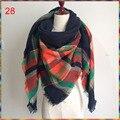 2016 Hot wholesale Unisex Acrylic scarf,85 color!New design Brand Winter Scarf Check Tartan blanket Plaid Women scarf shawl.