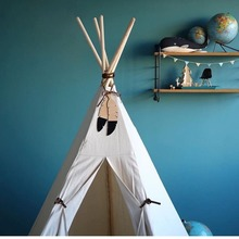 C Tent Hanging Pendant Room Bed Wall Wood Feather with rope decoration Nordic INS ornaments props Toy Kids Christmas Gift
