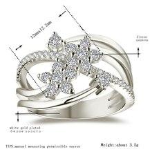 AndyChen oro blanco y rosa de Color AAA Zircon boda anillos para las mujeres boda joyería accesorios tamaño 5-12 h1425