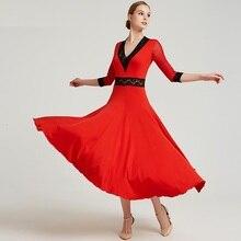 Standardowa sukienka balowa standardowe sukienki do tańca flamenco sukienka taniec nosić hiszpański kostium tańca towarzyskiego waltz sukienka taniec ubrania