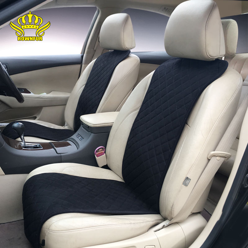 ROWNFUR Brand Classics Car Seat Covers Universal Car Full Set Suede Car Seat Cushion Cover Decorate Protect Seats Four Seasons