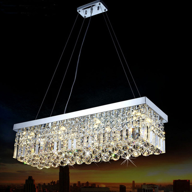 Long size rectangle crystal pendant light fitting crystal chandelier long size rectangle crystal pendant light fitting crystal chandelier ceiling suspension lamp for dining room aloadofball Choice Image