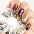 200pcs Punk Metal Square Star Drop Mix Nail Stud Rhinestones Nail Art Decoration Nail Charms w/box HOT SELLING # 7277
