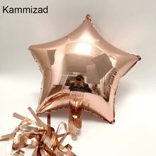 HOT 18inch Rose Gold star Balloon Foil Champagne Star helium Balloons for Birthday Party Decorations Wedding Party Decor Ballon цена и фото